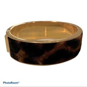 J. Crew Gold Clamp Oval Bracelet